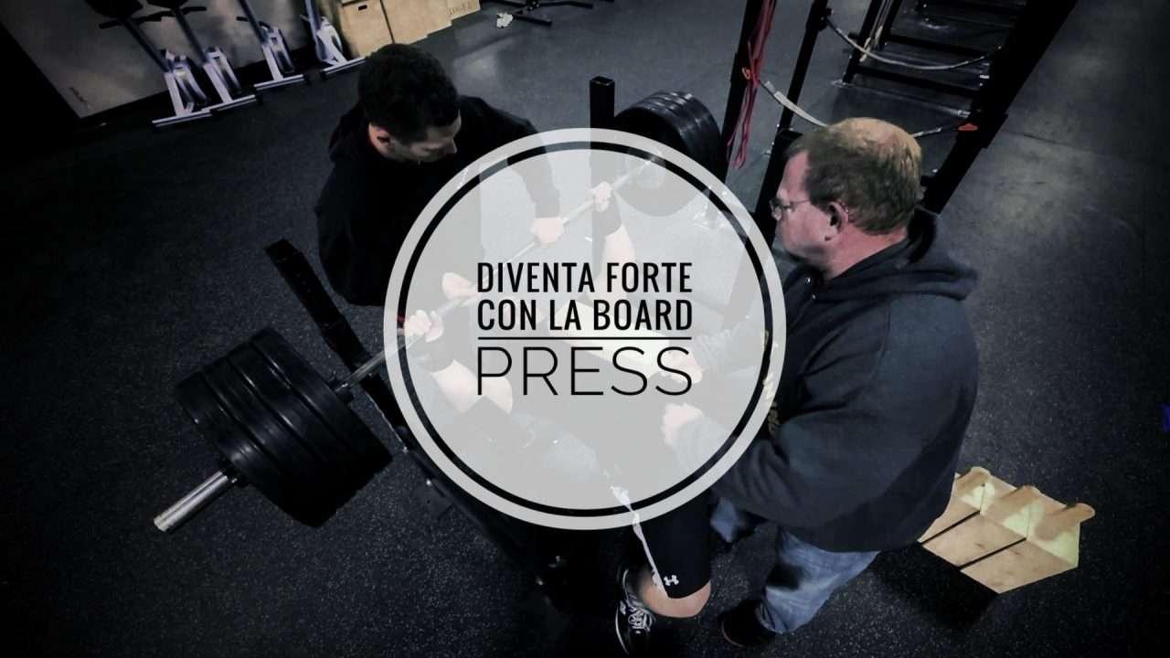 Board Press per Tricipiti (e Lockout) forte in Panca Piana