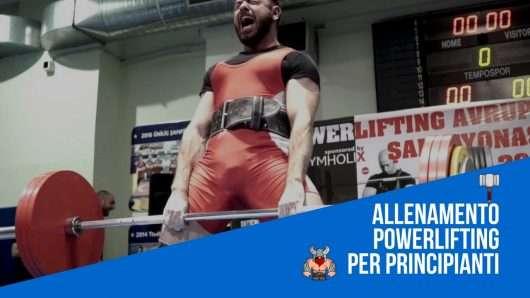 allenamento powerlifting principiante